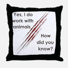 Cute Veterinary nurse Throw Pillow