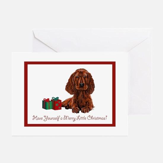 Irish Setter Christmas Cards (Pk of 10) Greeting C