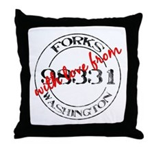 From Forks, With Love Throw Pillow