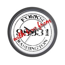 From Forks, With Love Wall Clock