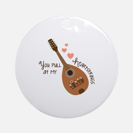 My Heartstrings Round Ornament