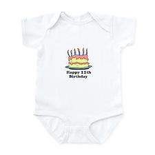 Happy 11th Birthday Infant Bodysuit