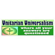 UNITARIAN Bumper Car Sticker