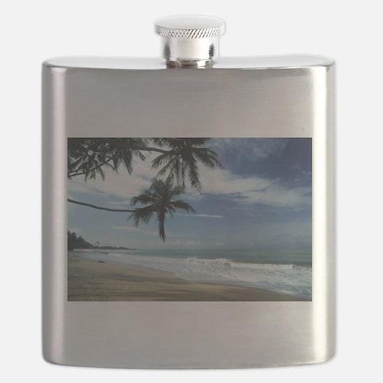 Puerto rico beach Flask