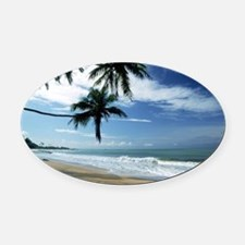 Cute Coast Oval Car Magnet