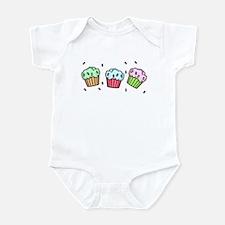 Three Cupcakes Infant Bodysuit