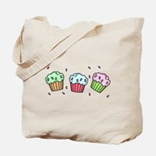 Three Cupcakes Tote Bag