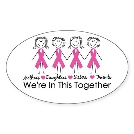 We're In This Together Oval Sticker