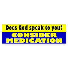 MEDICATION Bumper Bumper Sticker