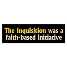 INQUISITION Bumper Car Car Sticker