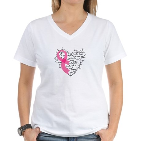 Heart of Words Women's V-Neck T-Shirt