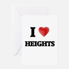 I love Heights Greeting Cards