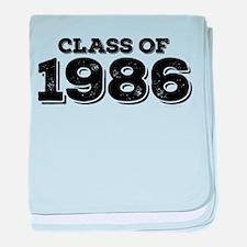 Class of 1986 baby blanket