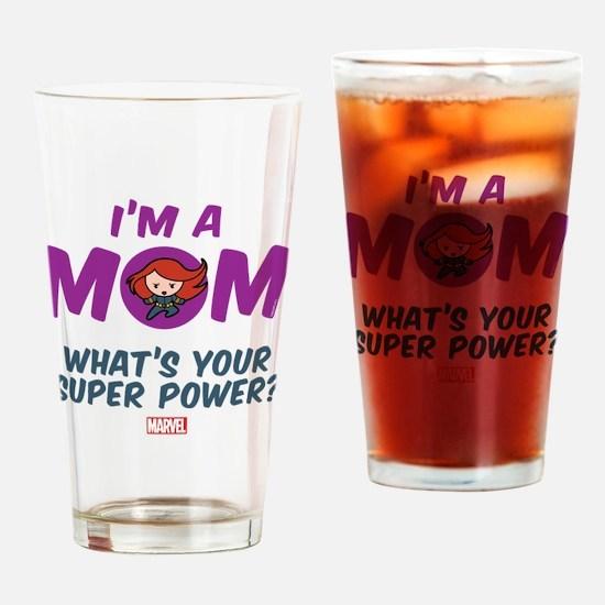 Marvel Mom Black Widow Drinking Glass