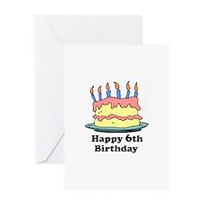 Happy 6th Birthday Greeting Card