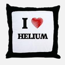 I love Helium Throw Pillow