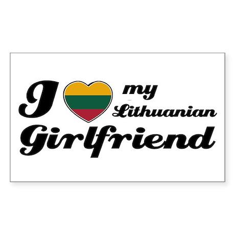 I love my Lithuanian Girlfriend Sticker (Rectangul