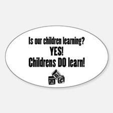 Childrens Do Learn Oval Decal