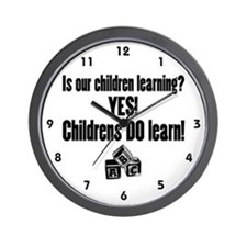 Childrens Do Learn Wall Clock