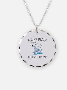Polar Bears Against Trump Necklace
