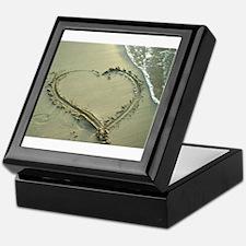 heart in the sand Keepsake Box