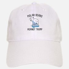 Polar Bears Against Trump Baseball Baseball Cap