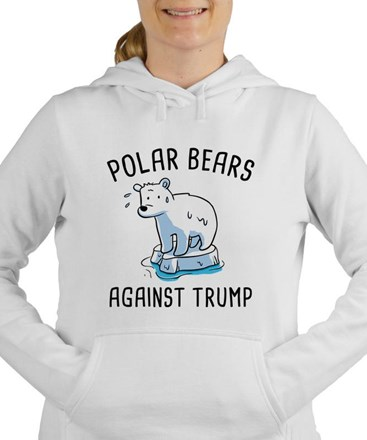 Polar Bears Against Trump Women's Hooded Sweatshir