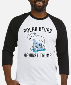 Polar Bears Against Trump Baseball Jersey