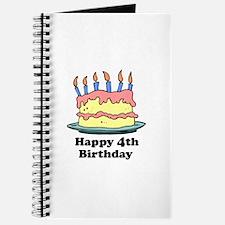 Happy 4th Birthday Journal