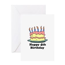 Happy 4th Birthday Greeting Card
