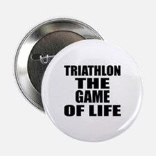 """Triathlon The Game Of Life 2.25"""" Button (10 pack)"""