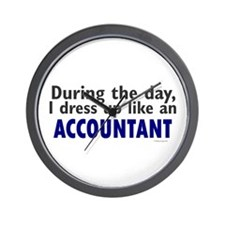Dress Up Like An Accountant Wall Clock