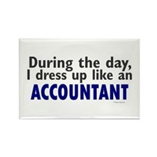 Dress Up Like An Accountant Rectangle Magnet
