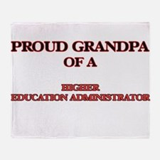 Proud Grandpa of a Higher Education Throw Blanket