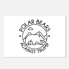 Polar Bears Against Trump Postcards (Package of 8)