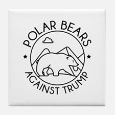 Polar Bears Against Trump Tile Coaster