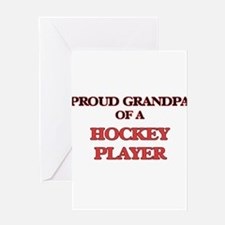 Proud Grandpa of a Hockey Player Greeting Cards