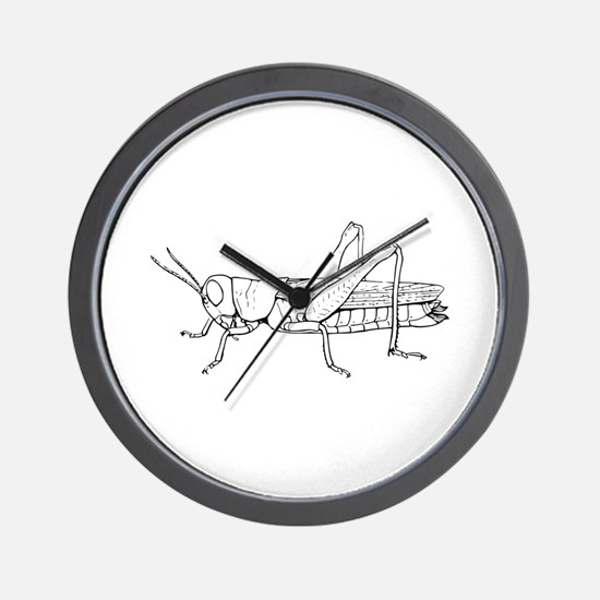 Grasshopper silhouette Wall Clock