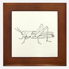 Grasshopper silhouette Framed Tile