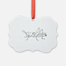 Grasshopper silhouette Ornament