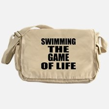 Swimming The Game Of Life Messenger Bag