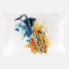 Saxophone Painting Pillow Case