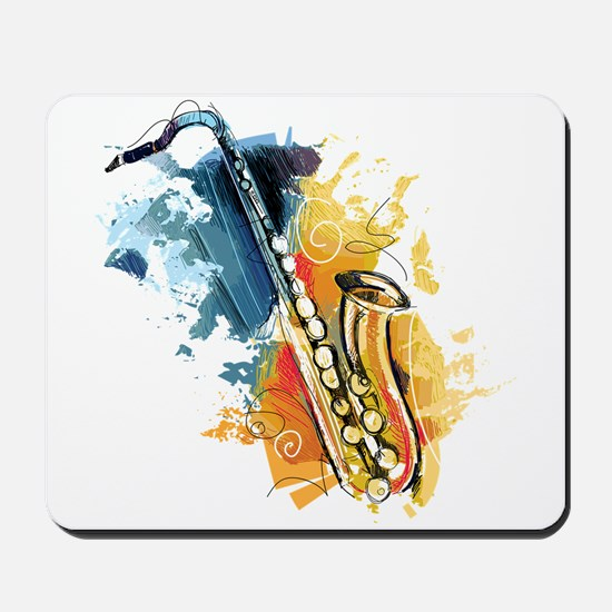 Saxophone Painting Mousepad