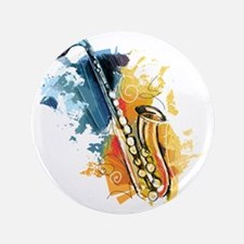"""Saxophone Painting 3.5"""" Button (100 pack)"""