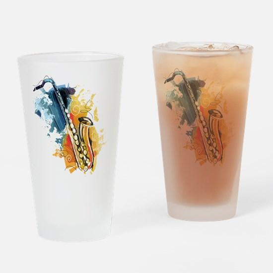 Saxophone Painting Drinking Glass