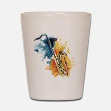 Saxophone Painting Shot Glass