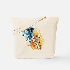 Saxophone Painting Tote Bag