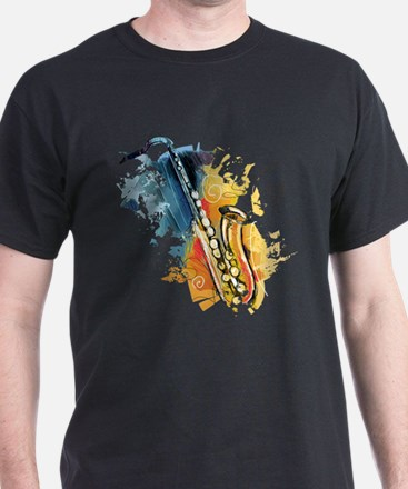 Saxophone Painting T-Shirt