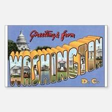 Washington D.C. Rectangle Decal