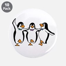 "Dancing Penguins 3.5"" Button (10 pack)"